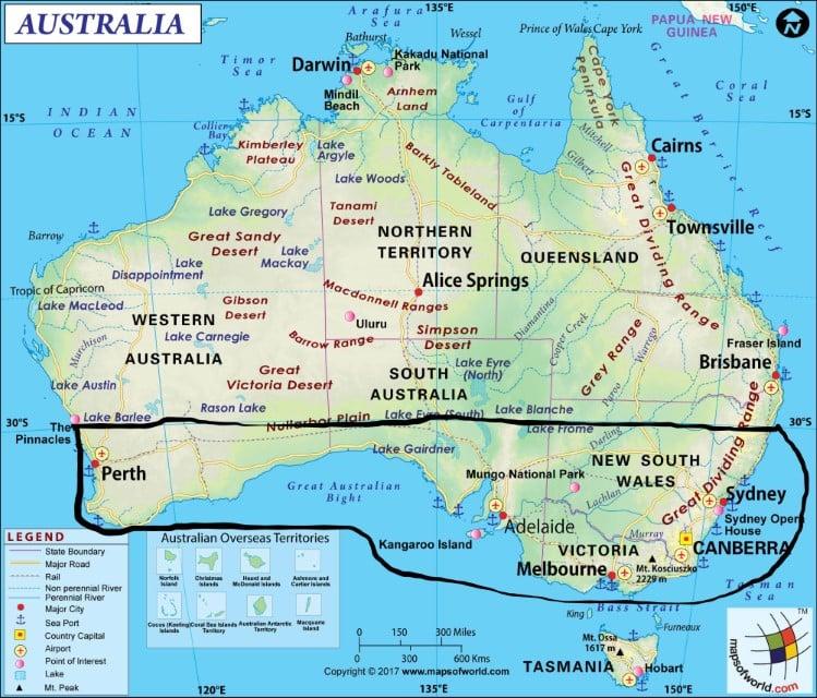 מזג אוויר באוסטרליה